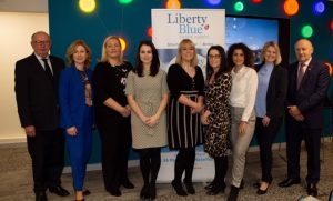 Liberty Blue Estate Agents team with Laura O'Keefe and Pat Davitt CEO IPAV